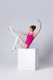 Abbildung des Balletts dancer attraktiver Turner der jungen Frau auf a Lizenzfreies Stockfoto