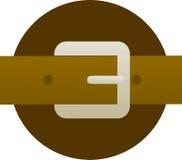 Abbildung des Brown-ledernen Gurtes und der Schnalle Lizenzfreies Stockbild