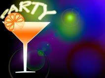 Abbildung des Cocktails Stockbild