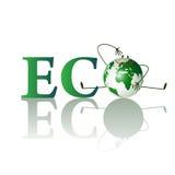 Abbildung des eco Textes Lizenzfreie Stockbilder