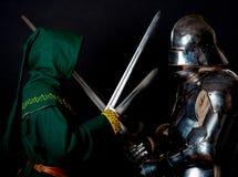 Abbildung des Gauners und des Ritters Lizenzfreie Stockfotografie