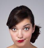 Abbildung des Gesichtes einer schönen Frau Lizenzfreies Stockbild