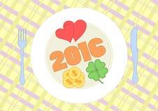 Abbildung des glücklichen neuen Jahres Stockfoto