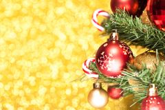 Abbildung des Goldweihnachten background Stockbild