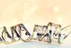 Abbildung des Goldweihnachten background Lizenzfreies Stockbild
