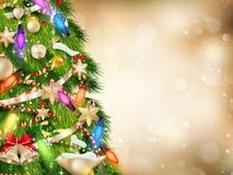 Abbildung des Goldweihnachten background ENV 10 Stockbilder