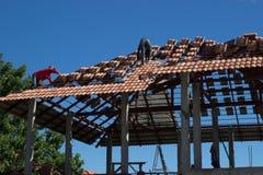 Abbildung des herausgestellten Dachaufbaus Stockfoto