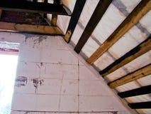 Abbildung des herausgestellten Dachaufbaus Stockfotografie