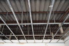 Abbildung des herausgestellten Dachaufbaus Stockbilder