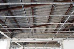 Abbildung des herausgestellten Dachaufbaus Stockbild
