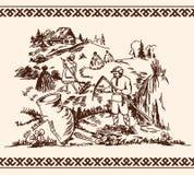 Abbildung des Heuens Lizenzfreies Stockbild