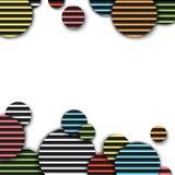Abbildung des Hintergrundes nützlich für viele Anwendungen Realistisches rundes Muster, materielles Design Lizenzfreie Stockfotos