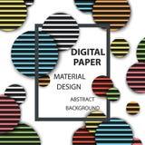 Abbildung des Hintergrundes nützlich für viele Anwendungen Realistisches rundes Muster, materielles Design Stockfoto