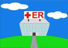 Abbildung des Krankenhauses ER Lizenzfreies Stockbild