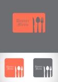 Abbildung des Löffel-, Messer- und Gabelsets. Stockbilder