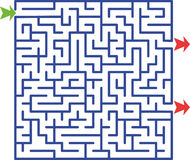 Abbildung des Labyrinths   Stockfoto