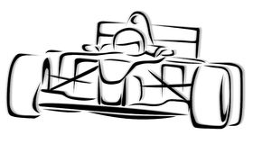 Abbildung des laufenden Auto-F1 Stockfotografie