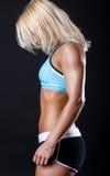 Abbildung des müden Sportswoman Lizenzfreies Stockbild