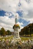 Abbildung des Madonna, Lourdes - Frankreich. Stockfoto