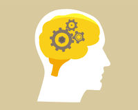 Abbildung des menschlichen Gehirns Stockfoto