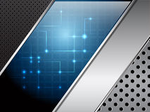 Abbildung des metallischen Hintergrundes Lizenzfreies Stockbild