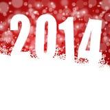 Abbildung des neuen Jahres 2014 mit Schneeflocken Stockfoto