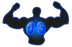 Abbildung des Röntgenstrahlmannes stock abbildung