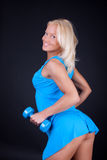 Abbildung des reizvollen blonden Sportswoman Lizenzfreie Stockbilder