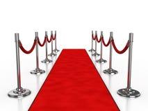Abbildung des roten Teppichs 3d Stockfotos