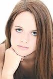 Abbildung des schönen vierzehn Einjahresmädchens Stockbilder
