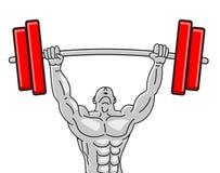 Abbildung des starken Muscleman stock abbildung