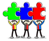 Abbildung des Teamwork-Geschäftsmannes lizenzfreie abbildung