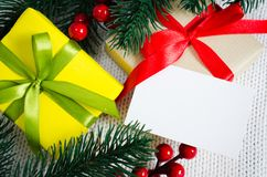 Abbildung des Vektor eps10 Weihnachtsgeschenk Lizenzfreies Stockfoto