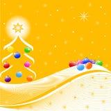 Abbildung des Weihnachtsbaums Lizenzfreie Stockfotos