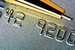 Abbildung einer Kreditkarte als Hintergrund. Lizenzfreie Stockfotos