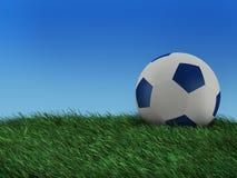 Abbildung einer Kugel, zum des Fußballs zu spielen Stockfotografie