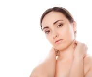 Abbildung einer nackten Frau, die zur Kamera schaut Lizenzfreies Stockfoto