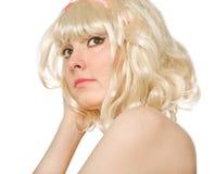 Abbildung einer schönen blonden Frau Lizenzfreies Stockfoto