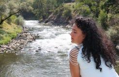 Abbildung einer schönen jungen Frau Lizenzfreie Stockfotos