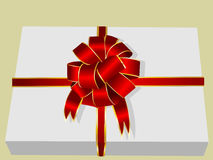 Abbildung eines Geschenkkastens Stockfoto