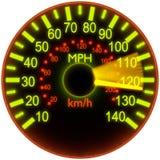 Abbildung eines Geschwindigkeitsmessers. stock abbildung
