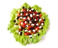Abbildung eines griechischen Salats Stockfotos