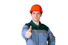 Abbildung eines jungen Bauarbeiters Lizenzfreies Stockfoto