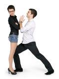 Abbildung eines jungen Paares in der Liebe Stockbilder