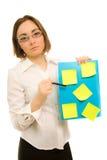Abbildung eines jungen Sekretärs Stockbilder