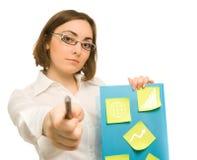 Abbildung eines jungen Sekretärs Stockbild