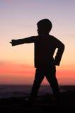Abbildung eines kleinen Jungen Stockbild