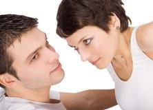 Abbildung eines lächelnden jungen Paares in der Liebe Stockfoto
