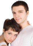 Abbildung eines lächelnden jungen Paares in der Liebe Lizenzfreie Stockfotografie