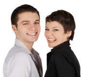 Abbildung eines lächelnden jungen Paares in der Liebe Lizenzfreie Stockbilder